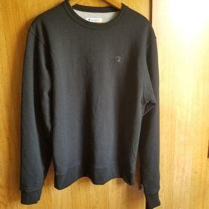 Champion Crewneck Sweatshirt Black Sz:Sm